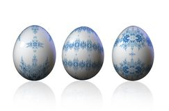 Decorative ornamental Easter Eggs Royalty Free Stock Photography