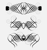 Decorative ornamental elements Stock Image