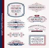 Decorative ornamental emblems of quality Stock Photos