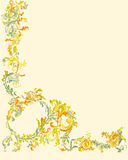 Decorative ornamental floral page classic color le Stock Images