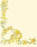 Decorative ornamental floral page classic color le Stock Images