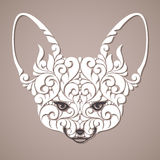 Decorative ornamental fox. Royalty Free Stock Images