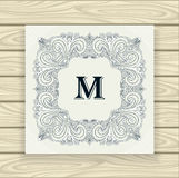 Decorative ornamental frame  black on white Stock Photography