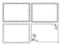 Decorative vector ornamental frames - set Stock Photos
