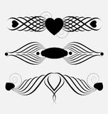 Decorative ornamental header elements Royalty Free Stock Images