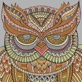 Decorative ornamental Owl background Stock Images