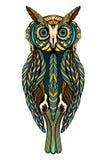 Decorative ornamental Owl Stock Image