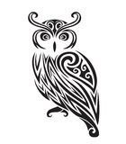 Decorative ornamental owl silhouette. Royalty Free Stock Images