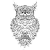 Decorative ornamental Owl. Royalty Free Stock Photos