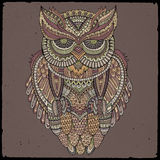 Decorative ornamental Owl. Vector illustration Royalty Free Stock Image