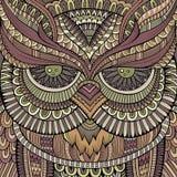 Decorative ornamental Owl. Vector illustration Stock Image
