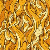 Decorative ornamental pattern with golden hair Royalty Free Stock Photography