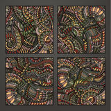 Decorative ornamental pattern set Stock Photography