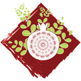 Decorative ornamental pomegranate Royalty Free Stock Images