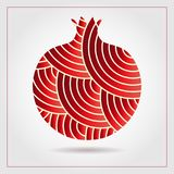 PrintDecorative ornamental pomegranate made of swirl doodles. Vector abstract illustration of fruit logo for branding, poster or p. Decorative ornamental Royalty Free Stock Photography