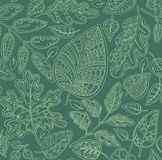 Decorative ornamental seamless pattern with leaves Royalty Free Stock Photography