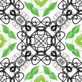 Decorative ornamental seamless spring pattern. Royalty Free Stock Photos