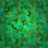 Vector illustration texture. Decorative ornamental seamless spring pattern. Endless elegant texture with leaves. Tempate for design fabric, backgrounds, wrapping Royalty Free Stock Images