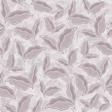 Decorative ornamental seamless spring pattern texture with leave Stock Images