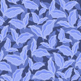Decorative ornamental seamless spring pattern texture with leave Royalty Free Stock Images