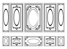 Decorative Ornamented frames for walls or backgrounds Stock Photo