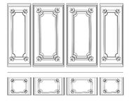 Decorative Ornamented frames for walls or backgrounds Royalty Free Stock Photo
