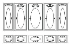 Decorative Ornamented frames for walls or backgrounds Royalty Free Stock Photography