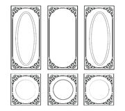 Decorative Ornamented frames for walls or backgrounds Royalty Free Stock Images