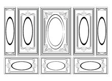 Decorative Ornamented frames for walls or backgrounds Royalty Free Stock Photos
