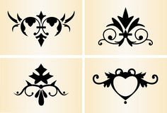 Decorative Ornaments #1. Four decorative dividers and accents Royalty Free Stock Photography