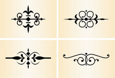 Decorative Ornaments #2. Four decorative dividers and accents Stock Photos
