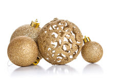 Decorative  ornaments  on a background of white painted r Stock Image