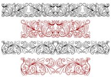 Decorative ornaments and borders Royalty Free Stock Photo