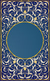 Decorative Ornaments Design In Blue Background Stock Photography
