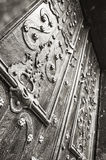 Decorative ornaments on the doors of the Dominican Cathedral in Lviv Stock Images