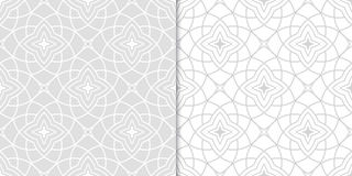 Decorative ornaments, gray seamless pattern. Wallpaper background Royalty Free Stock Photos