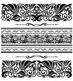 Decorative ornaments and patterns Stock Images