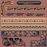 Decorative ornaments. Patterns, frames and borders for design project Royalty Free Stock Photo