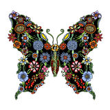Decorative ornate butterfly Royalty Free Stock Image