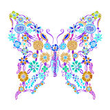 Decorative ornate butterfly Royalty Free Stock Images
