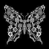 Decorative ornate butterfly Stock Photo