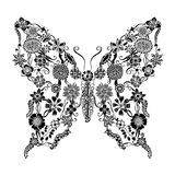 Decorative ornate butterfly Stock Photos