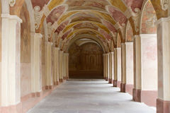 Decorative ornate corridor Royalty Free Stock Photo