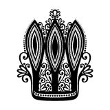 Decorative Ornate Crown Stock Images