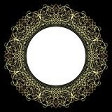 Decorative ornate frame in Victorian style. Royalty Free Stock Photos