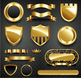 Decorative ornate gold frame collection Royalty Free Stock Photos