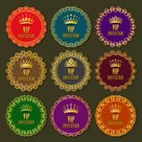 Decorative ornate golden vector frames Royalty Free Stock Images