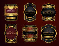 Decorative ornate label set Stock Image
