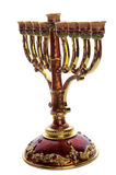 Decorative  ornate menorah Royalty Free Stock Image