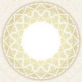 Decorative ornate round frame in Victorian style. Ornamental round border for wedding invitations and greeting cards.Vector illustration Stock Image